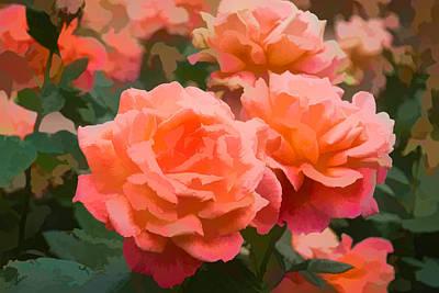 Luscious Fragrant Roses - Impressions Of June Print by Georgia Mizuleva