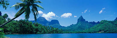 Moorea Photograph - Lush Foliage And Rock Formations by Panoramic Images