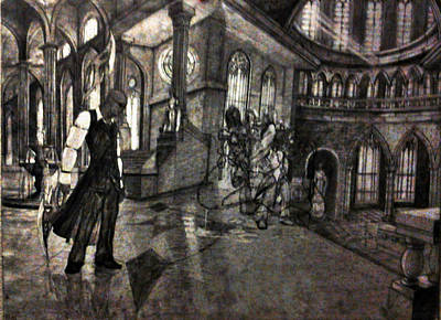 Drawing - Lust In The Temple by George Harrison