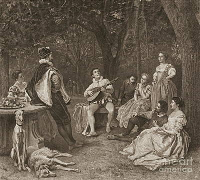 Lute Player 1858 Print by Padre Art