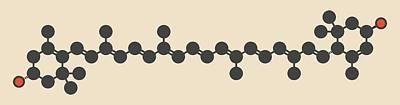Spinach Photograph - Lutein Carotenoid Molecule by Molekuul