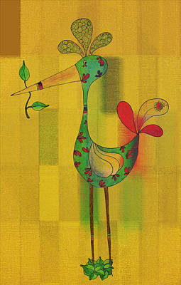 Lutgarde's Bird - 061109106y Print by Variance Collections