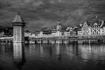 Bnw Photograph - Lucerne Reflected by Carol Japp