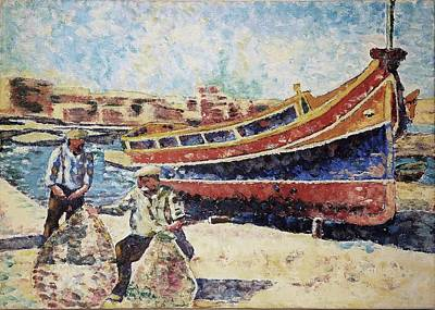 Marsaxlokk Painting - Luzzu by Vlad Grigore