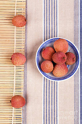 Lychess With Bamboo Mat Print by Jane Rix