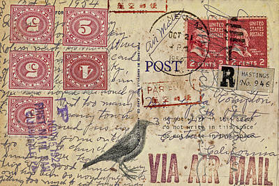 Mail Photograph - Lyda Compton Postcard by Carol Leigh