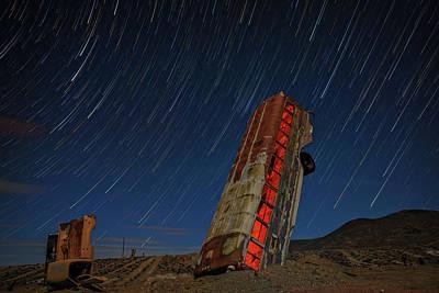 Star Trails Photograph - International Car Forest by Rick Berk