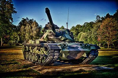 M60a3 Mbt Print by D L McDowell-Hiss