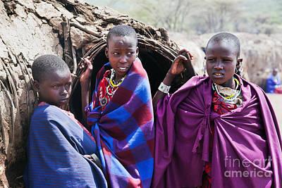 Human Photograph - Maasai Children Portrait In Tanzania by Michal Bednarek