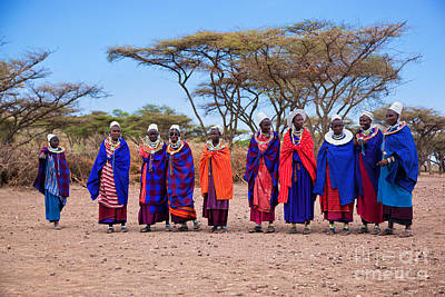 Africa Photograph - Maasai Women In Their Village In Tanzania by Michal Bednarek
