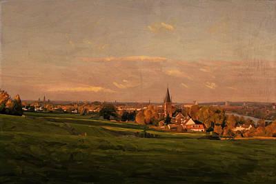 Maastricht Seen From Sint Pieter Print by Nop Briex