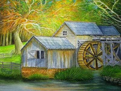 Mabry Painting - Mabry Mill by David Richardson
