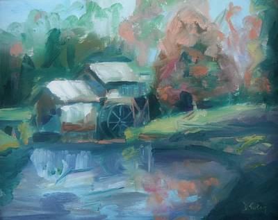 Grist Mill Painting - Mabry Mill by Donna Tuten