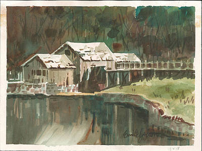 Mabry Painting - Mabry Mill by Emile  Cahen
