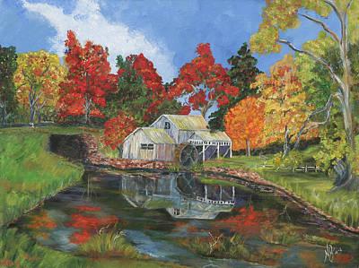 Mabry Painting - Mabry Mill by Nancy Herren-Jernigan