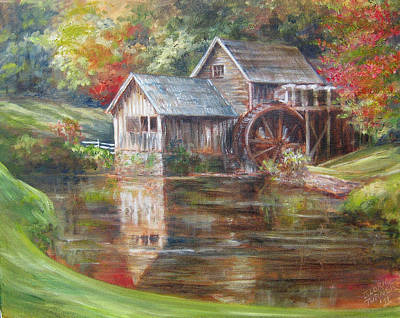 Mabry Painting - Mabry Mill Sold  by Gloria Turner