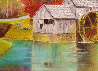 Mabry Painting - Mabry Mill View II by Anne-Elizabeth Whiteway