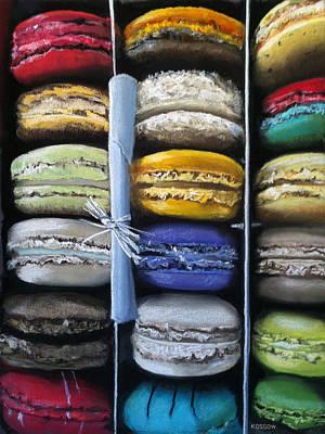Bakeries Painting - Macaroon Rainbow by Cristine Kossow