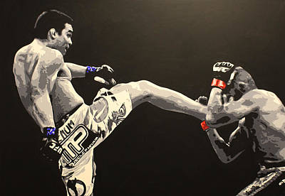 Ufc Painting - Machida V Couture by Geo Thomson