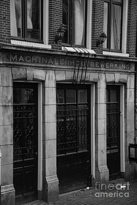 Machinale Houtebewerking Amsterdam Print by Teresa Mucha