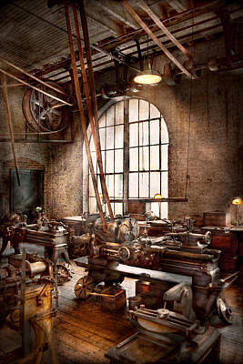 Old Mill Scenes Photograph - Machinist - I Like Big Tools by Mike Savad