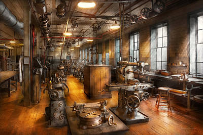 Mikesavad Photograph - Machinist - Industrious Society by Mike Savad