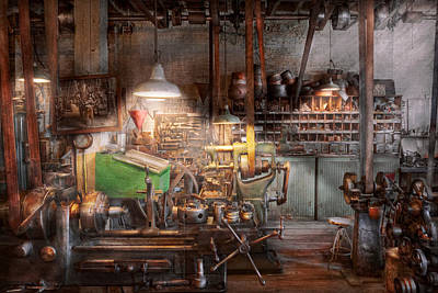 Machinist - It All Starts With A Journeyman  Print by Mike Savad