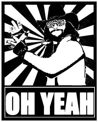 Randy Macho Man Savage Drawing - Macho Man Randy Savage by Jason Kimble