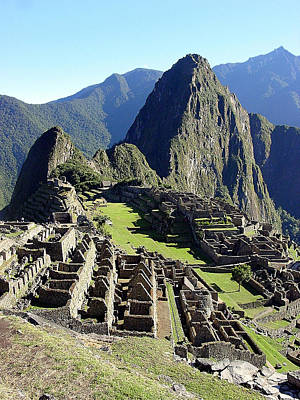 Inca Photograph - Machu Picchu Main Plaza by Roger Burkart