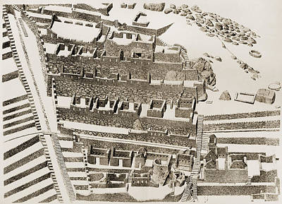 Precolumbian Photograph - Machu Picchu: Plan by Granger
