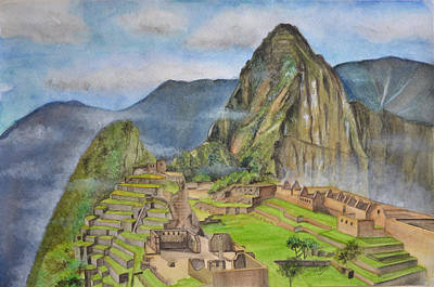 Wonders Of The World Painting - Machu Picchu by Swati Singh