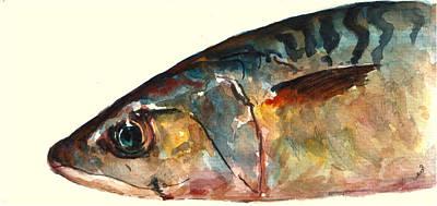 Fish Painting - Mackerel Fish by Juan  Bosco