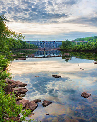 Hartwell Photograph - Mackerel Reflections At Hartwell Dam by Lynne Jenkins