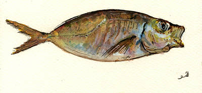 Fish Painting - Mackerel Scad by Juan  Bosco