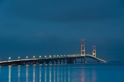 Bridge Photograph - Mackinac Bridge by Sebastian Musial