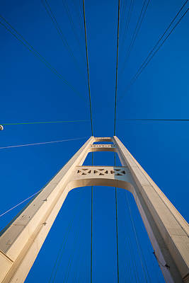 Mackinac Photograph - Mackinac Bridge South Tower by Steve Gadomski