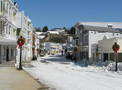 Snow Forts Photograph - Mackinac Island In Winter by Keith Stokes