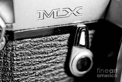 Vintage Camera Photograph - Macro Pentax Mx Dynamic Bw 3 by Pittsburgh Photo Company
