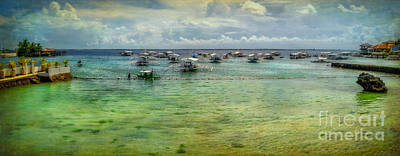 Pier Digital Art - Mactan Island Bay by Adrian Evans