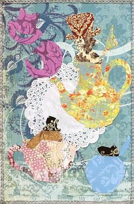 March Hare Mixed Media - Mad Hatter's Tea Party  by Savannah Bertozzi