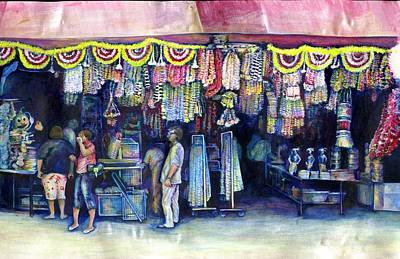 Mad Man Of Market And Main Singapore Print by Gaye Elise Beda