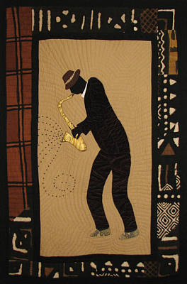Tapestry - Textile - Mad Sax #1 by Aisha Lumumba