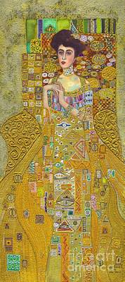 Adele Painting - Madam Adele Bloch Bauer After Klimt by Kate Bedell