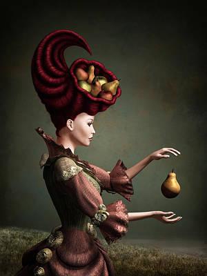 Hairdo Mixed Media - Madam Fruit by Britta Glodde