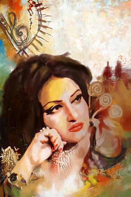 Madam Noor Jehan Print by Catf