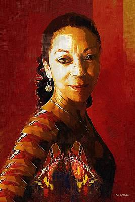 Jamaican Art Painting - Madame Exotic by RC deWinter