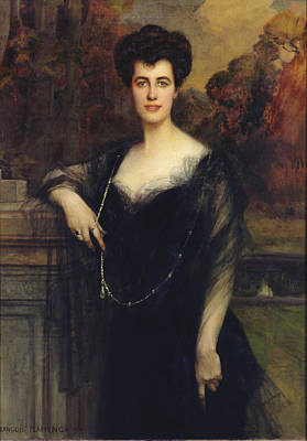 Madame Faure, 1901 Oil On Canvas Print by Francois Flameng