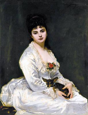 Carolus-duran Painting - Madame Henry Fouquier by Carolus-Duran
