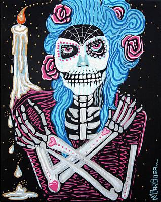 Skulls Painting - Madame Muertos by Laura Barbosa