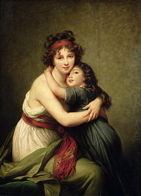 Self-portrait Photograph - Madame Vigee-lebrun And Her Daughter, Jeanne-lucie-louise 1780-1819 1789 Oil On Canvas by Elisabeth Louise Vigee-Lebrun